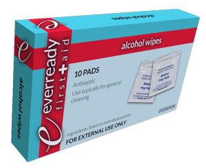 Alcohol Prep Wipes, Box/10