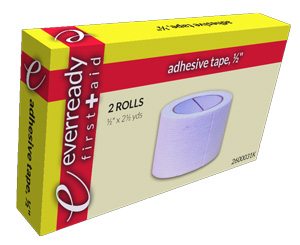 "Adhesive Tape, 1/2"" x 2 1/2"", In Kit Box, 2 Rolls"