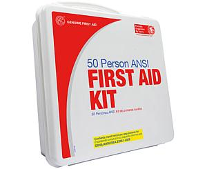 50 Person ANSI/OSHA First Aid Kit, Weather Proof Plastic Case