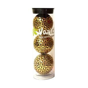 Tube of three Gold on Black Varick Golf balls