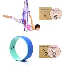 Purple Yoga Trapeze and Blue Wonder Wheel Bundle