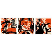 "Kinsey ""12 Inch Series II-Triptych"" Signed Screen Prints"