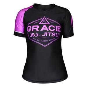 Pink Rank Gracie Short-Sleeve Rashguards (Women)